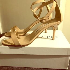 Manolo Blahnik Nudo Chaos Sandals 70mm size 8